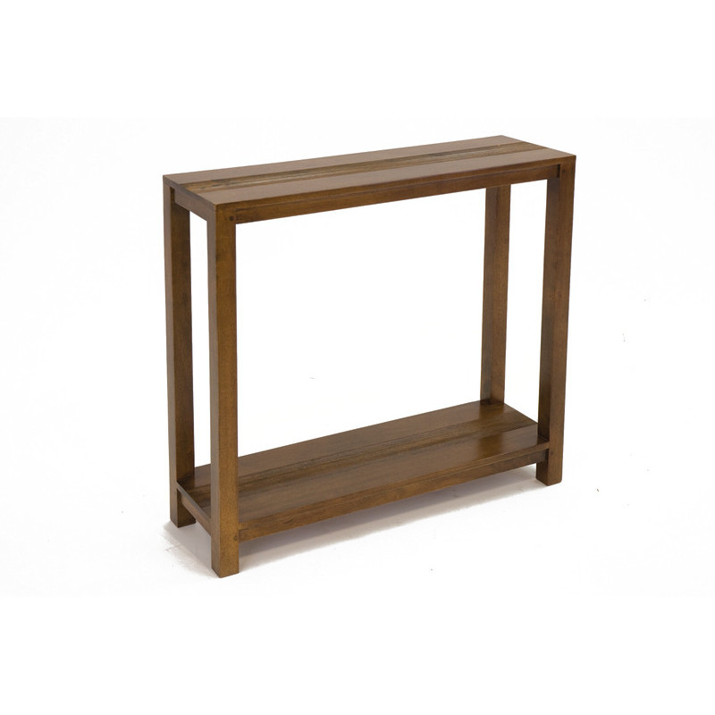 Console 2 levels with carved stripes pattern