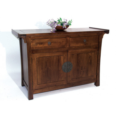pagodas cabinet with 2 doors and 2 drawers