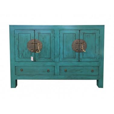 Chinese kast 4 deuren, 2 lades