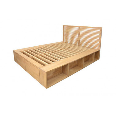 Bed with side racks