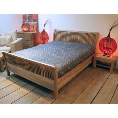 Bed in solid teak /...