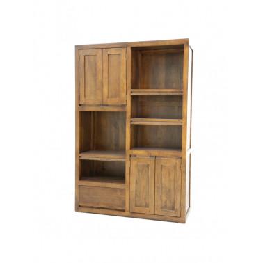 Boekenkast 4 deuren en 1 lade