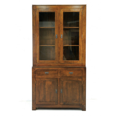 Glazed cabinet with 4 doors...