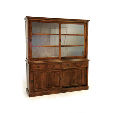 bookcase with sliding doors