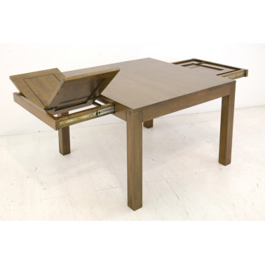 Dining table with 2 extensions