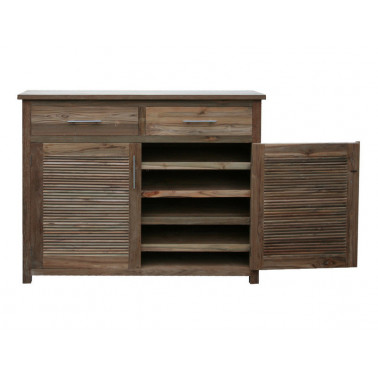 Shoe cabinet 2 doors with shutter design