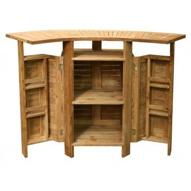 Bar cabinet with slats models