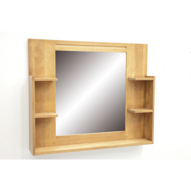 Bathroom mirrors with shelves