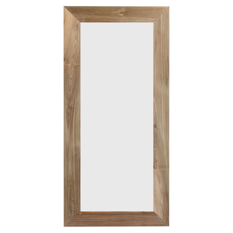 Teak frame w/ mirror