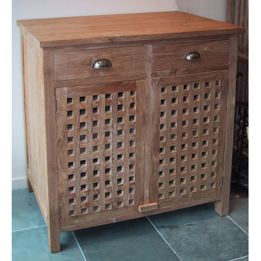 cabinet 2 drawers & 2 doors with lattices