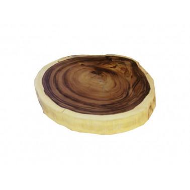 Acacia round slab natural...