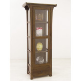 Chinese style display cabinet with glazed doors