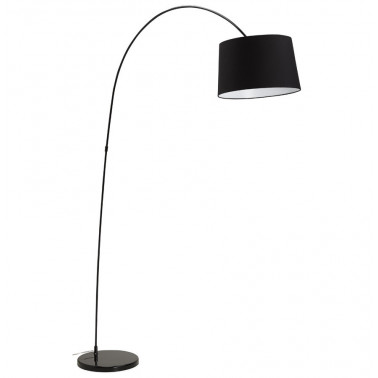 Floor lamp black swan
