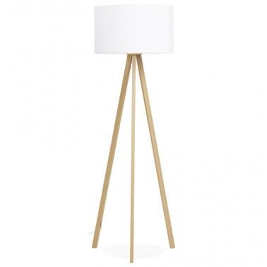 Design vloerlamp met witte kap