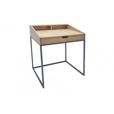 Desk with metal legs, 1 drawer