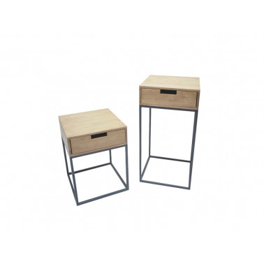 Accent tables in Wood & Iron