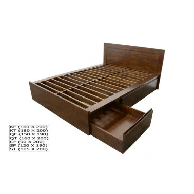 Bed with 6 drawers