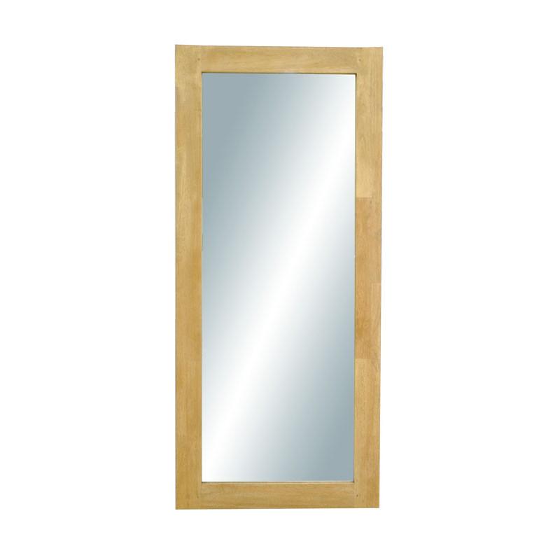 mirror with hevea frame