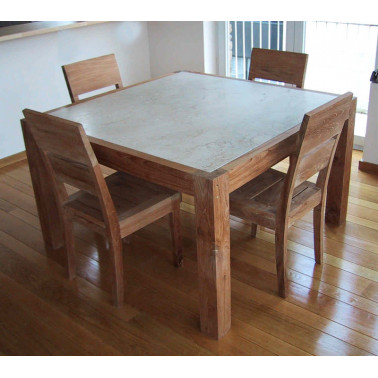 dining table in teak wood