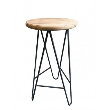 Stool in suar and iron