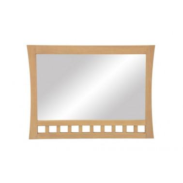 Spiegel met gebogen houten...