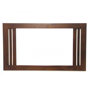 Spiegel en massief houten...