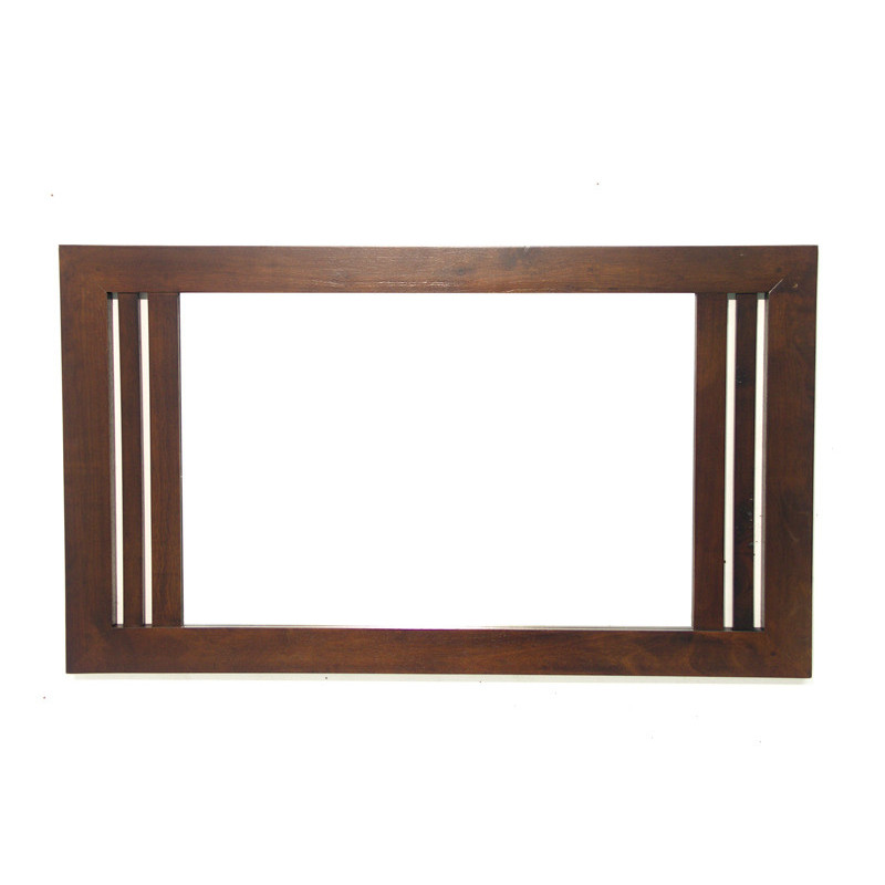 Mirror & solid wooden frame in hevea wood