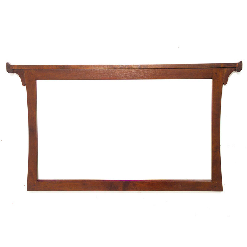 Mirror with wooden frame in hevea
