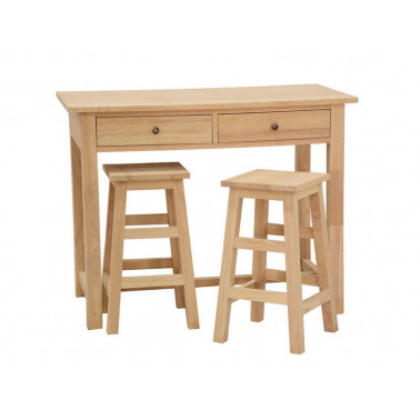 Set of table and 2 nesting stools