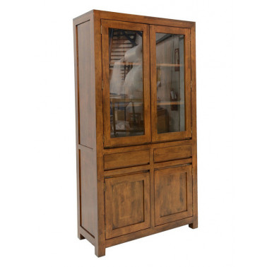Glass cabinet, 4 doors & 2...
