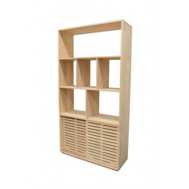 Bookshelf 2 sliding doors