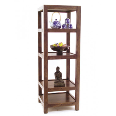 Column rack with 4 shelves