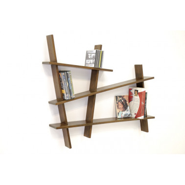 Wall rack, asymmetric shape