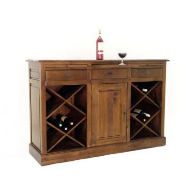 Kast met lades en wijnrekken