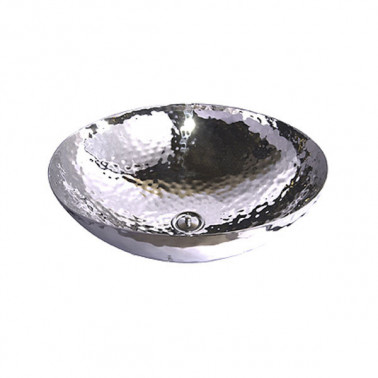 hand made sink in hammered...