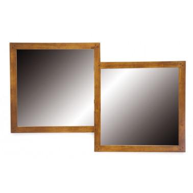 Dubbele spiegel met houten...